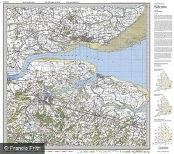 The Thames Estuary (1920) Popular Edition Folded Sheet Map