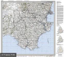 Torbay & South Dartmoor (1919) Popular Edition Folded Sheet Map