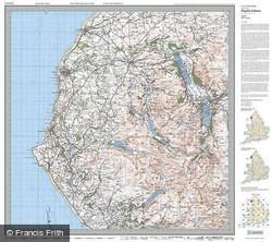 West Cumbria (1925) Popular Edition Folded Sheet Map