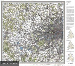 West London (1920) Popular Edition Folded Sheet Map