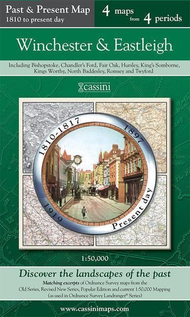 Winchester & Eastleigh (1810) Past & Present Folded Sheet Map